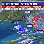 Tropical Depression Nine will impact the Bahamas and Florida