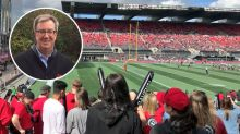 Ottawa Football Fans Have To Tell Drunk Guy To Put Down Mayor Jim Watson