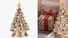 This Gold Ceramic Christmas Tree Will Add to a Hint of Shine to Your Decor