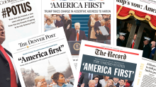 How newspapers covered President Trump's inauguration