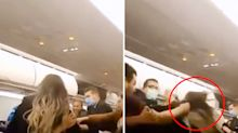 Hectic fight video sees airline passenger's hair pulled