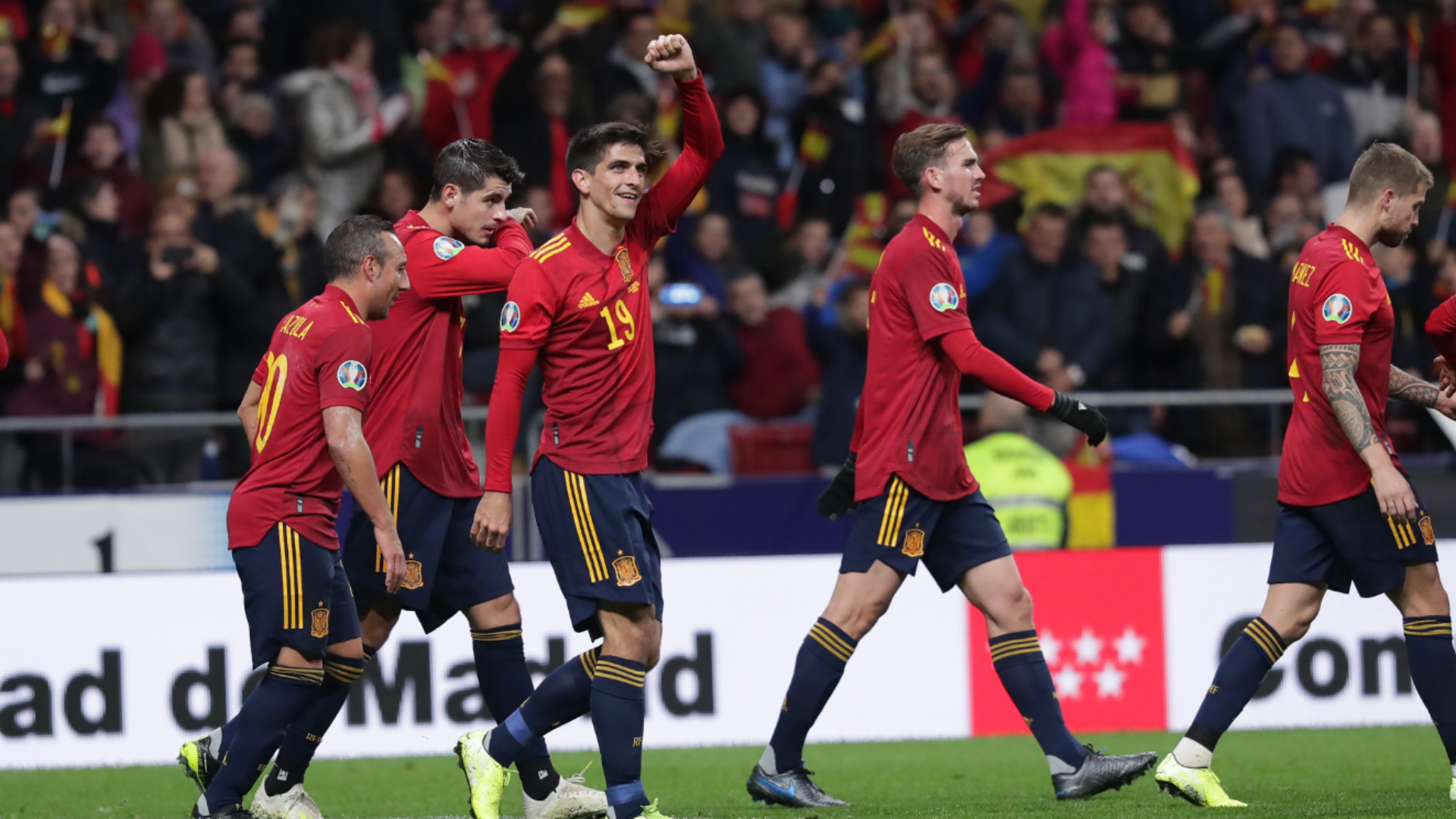 Spain World Cup 2020 Squad.Spain 5 0 Romania La Roja Cap Off Euro 2020 Qualifying In Style