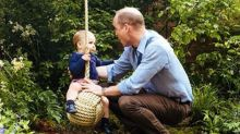 Prince William posts picture of Louis on Father's Day - but there's no Charlotte or George