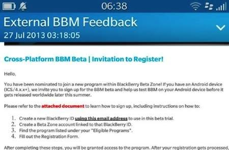 BlackBerry begins BBM beta for Android (update: official comment)