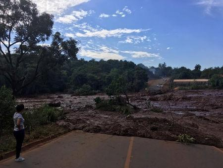 A general view of the aftermath from a failed iron ore tailings dam in Brumadinho, Minas Gerais