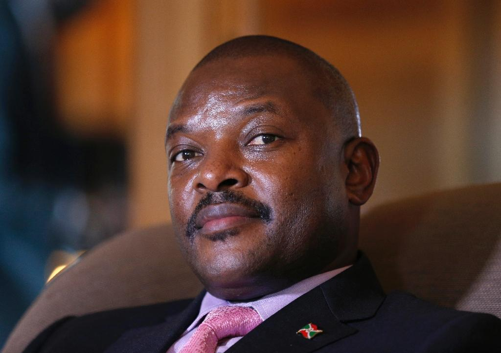 Burundian President Pierre Nkurunziza poses at a hotel in Paris on June 4, 2014 (AFP Photo/Francois Guillot)