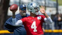 Dallas Cowboys QB Dak Prescott leaves practice with strained muscle in throwing arm