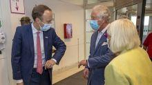 Moment Prince Charles and Matt Hancock share awkward - and relatable - elbow bump greeting