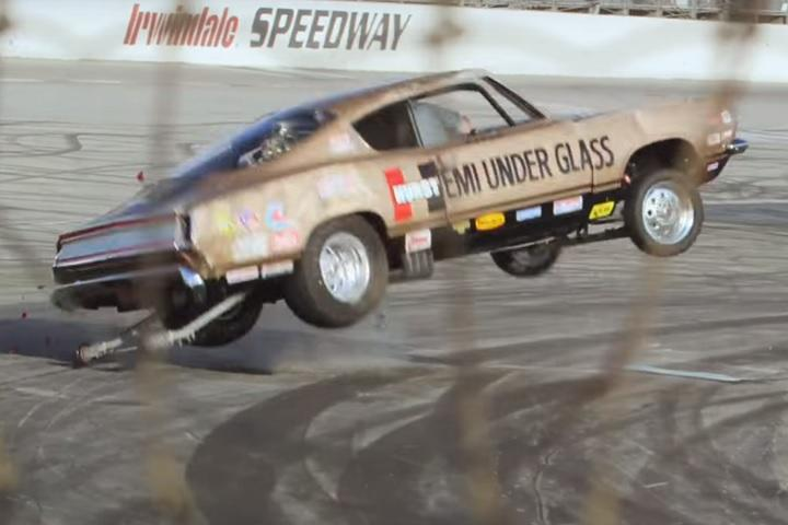 Watch Jay Leno Take A Tumble In A Hp Muscle Car