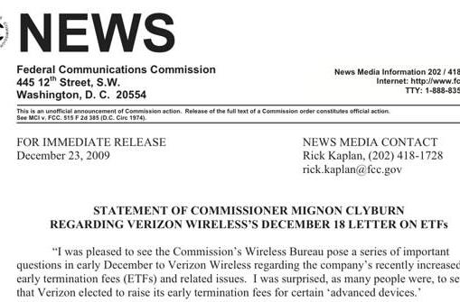 FCC commish says Verizon's ETF response is 'unsatisfying and, in some cases, troubling'