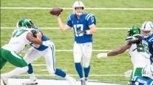 Rivers hits milestones as Colts rout Jets