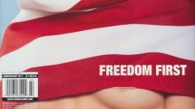 Model Wearing American Flag as Hijab on Magazine Cover Shows Underboob