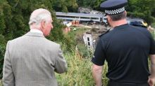 Investigation confirms cause of Stonehaven train crash as Prince Charles visits site where three were killed