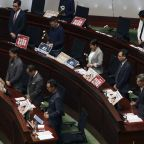 Opposition lawmakers again shout down Hong Kong leader