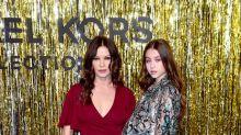 Catherine Zeta-Jones and daughter Carys go '70s retro at Michael Kors show