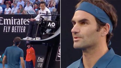 Federer fumes over chair umpire's 'bad conscience'