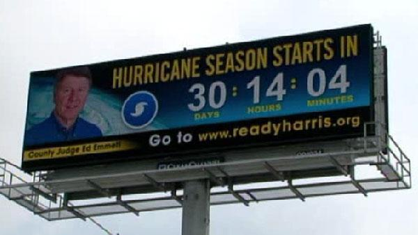 New billboards count down days to hurricane season