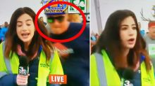 'Smacked my butt': Reporter's disgust after being 'groped' on live television