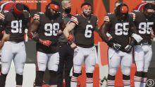 "Jim Donovan and Dave 'Dino' DeNatale react to Cleveland Browns' 34-20 win over Washington on ""Donovan & Dino"""