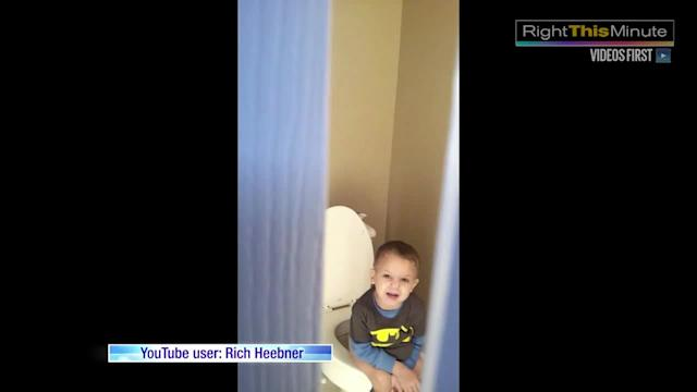 Little Boy Just Wants His Butt Cleaned