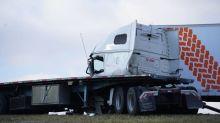 Truck driver dies in Saskatoon crash involving 3 tractor trailers