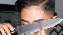 Messerscharfer Beauty-Trend: Schminken mit Besteck