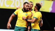 'Battered and bruised': Wallabies overcome flying Fijians in Rugby World Cup scare