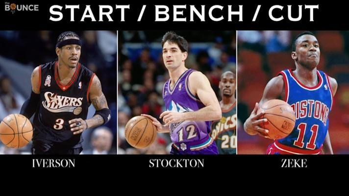 The Bounce - Which Hall of Fame NBA point guard are you cutting?