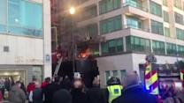 Fire next to Nobu restaurant in central London