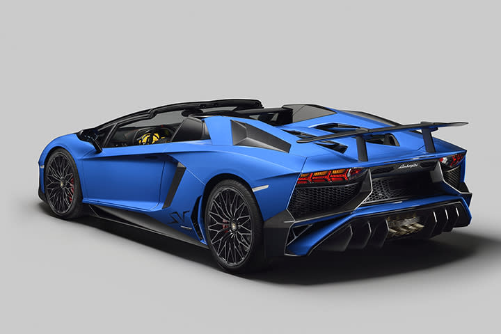 5 things to know about the lamborghini aventador lp 750 4 sv roadster lamborghini aventador roadster rear publicscrutiny Gallery