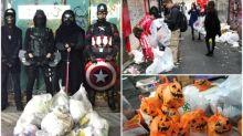 【有片】萬聖節活動過後 日本網民自發變裝執垃圾