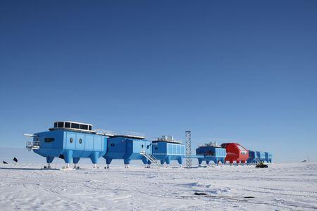 The British Antarctic Survey's Halley VI research station modules at the old site. REUTERS/British Antarctic Survey/Handout