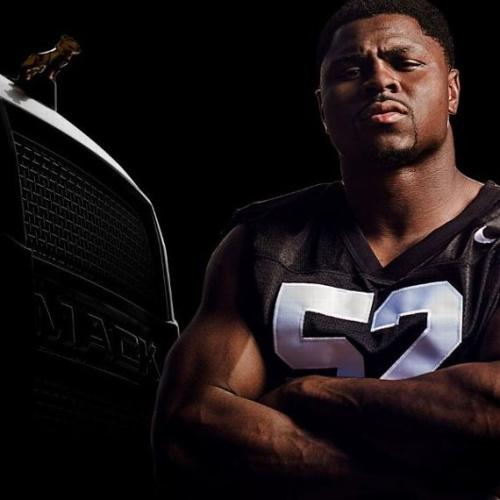 Natural fit: Oakland's Khalil Mack has a new endorsement deal with Mack Trucks. (AP)