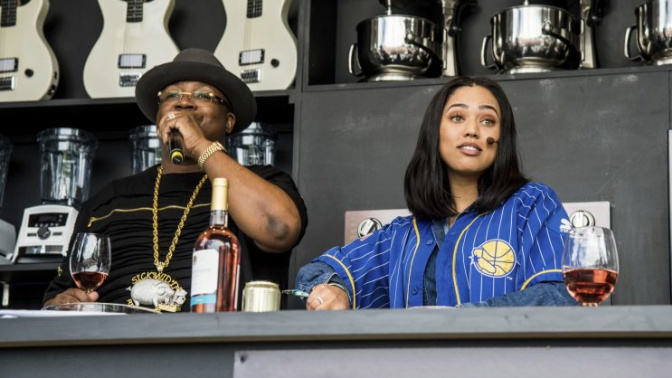 Ayesha Curry rapped about her cookbook at a music festival