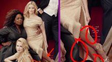 """Las """"tres"""" piernas de Reese y los """"tres"""" brazos de Oprah causan sensación"""