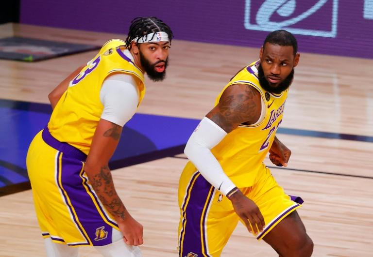 Double-trouble: LeBron James and Anthony Davis have formed a potent axis for the Los Angeles Lakers