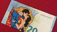 Artista pinta artes incríveis em notas de dinheiro