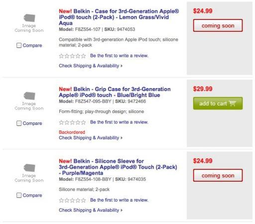 """""""3rd-Generation"""" iPod touch accessories appear on Best Buy's website"""