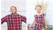 Mãe usa camisas velhas do marido para criar looks incríveis para as filhas