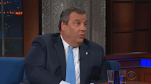 Chris Christie shoots tequila, blames Donald Trump for the shutdown during 'Colbert' interview
