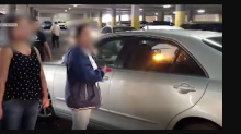 Shocking fight over a car park at busy shopping centre