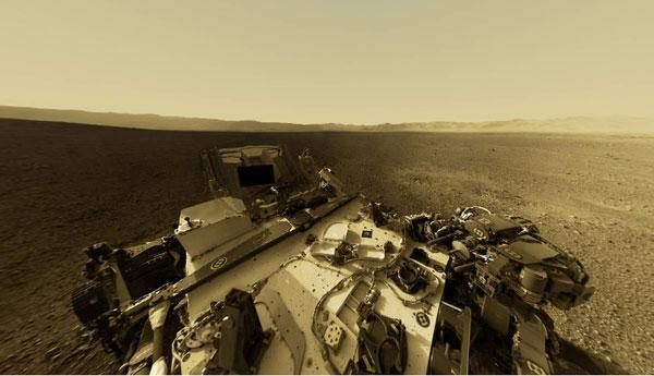 Visualized: Mars' Gale Crater in seamless 360 degrees