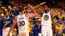 Warriors rout Rockets in NBA playoffs