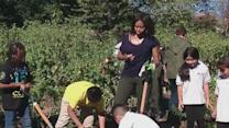 First Lady Welcomes Children to Annual Harvest at The White House Kitchen Garden