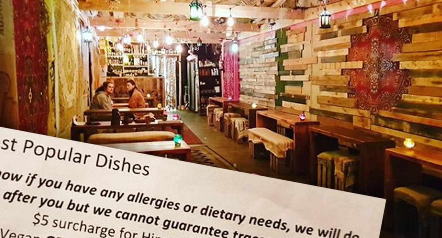 Outrage over restaurant's controversial $5 'hipster allergies' surcharge