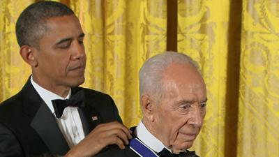 Raw Video: Peres presented Medal of Freedom