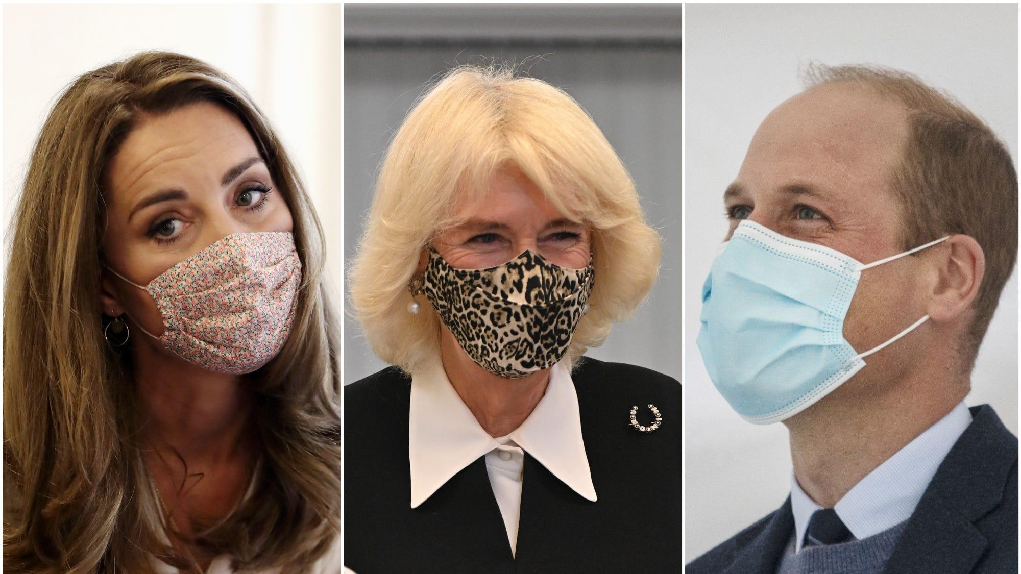The royal family in their masks