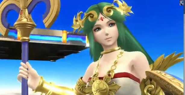 Palutena from Kid Icarus joins the fight in Super Smash Bros.