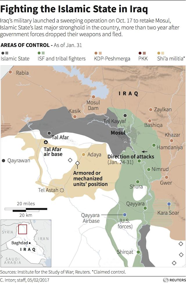 Iraq ISIS Mosul map February 5