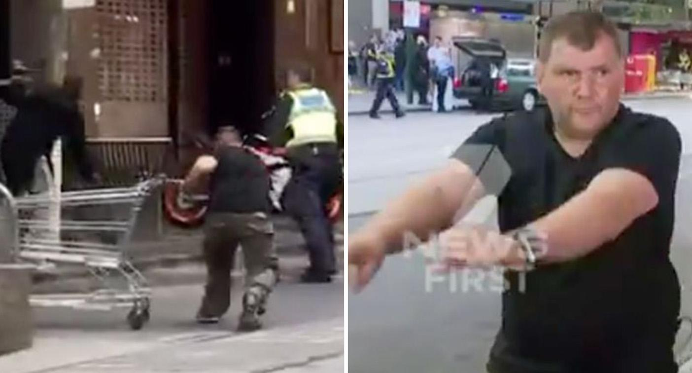 Top cop hits out at Bourke Street trolley man over 'heroic' act